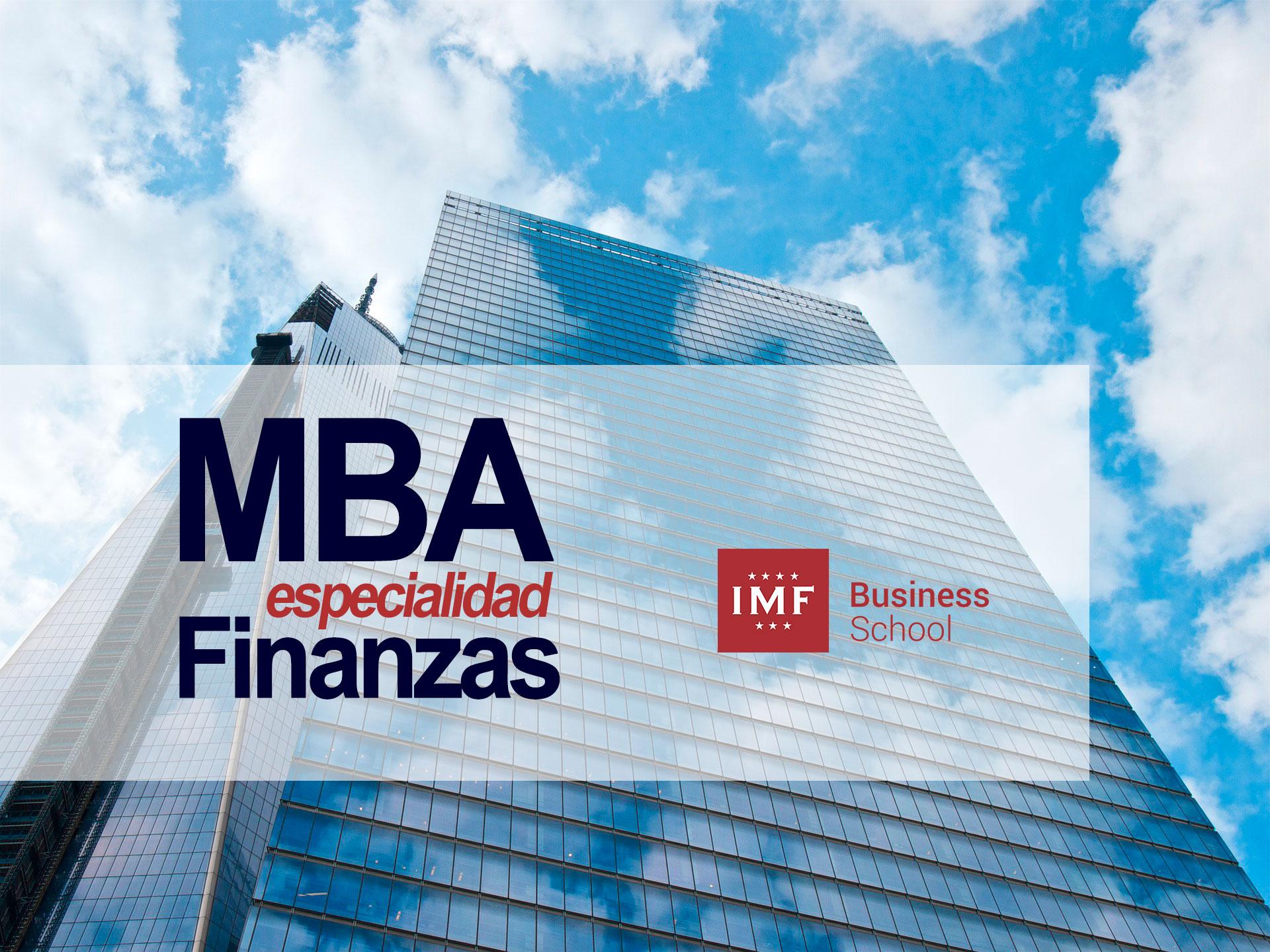 MBA especialidad de finanzas
