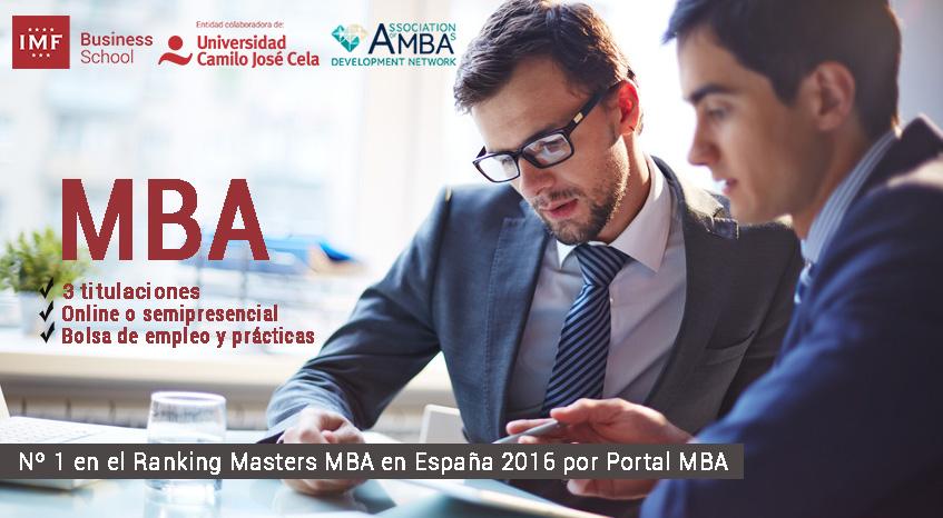 Master MBA Dirección de Empresas de IMF