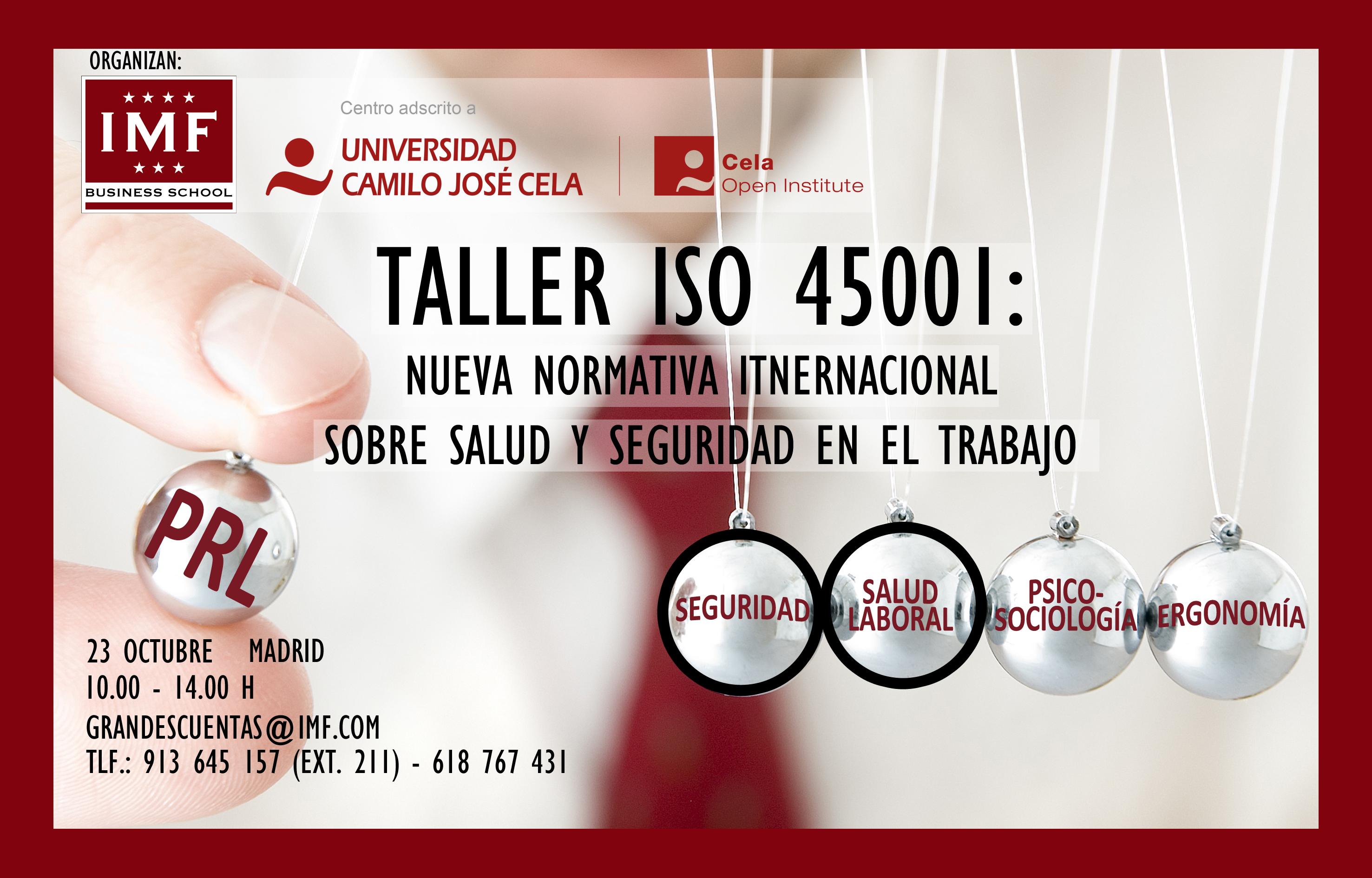 TALLER-ISO-45001_IMF_COI Nueva Norma Internacional para seguridad y salud en el trabajo