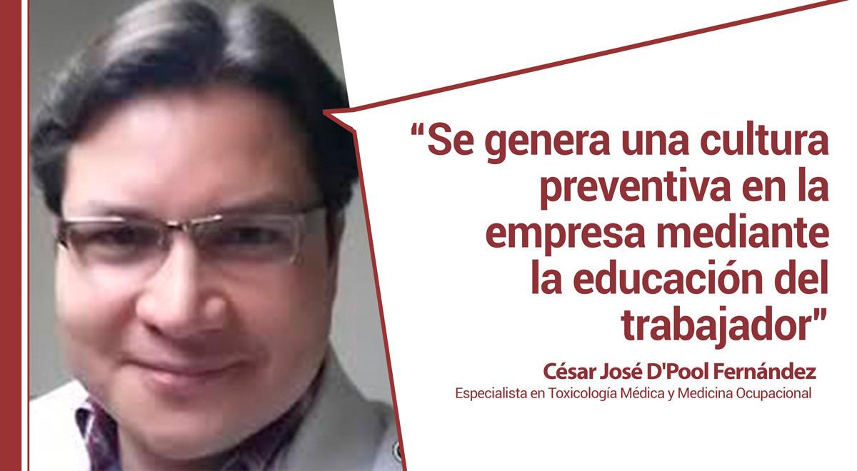 pool Belén Arcones entrevista a César D Pool, Especialista en toxicología médica