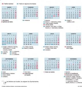 calendario-285x300 El calendario laboral y los festivos de 2016