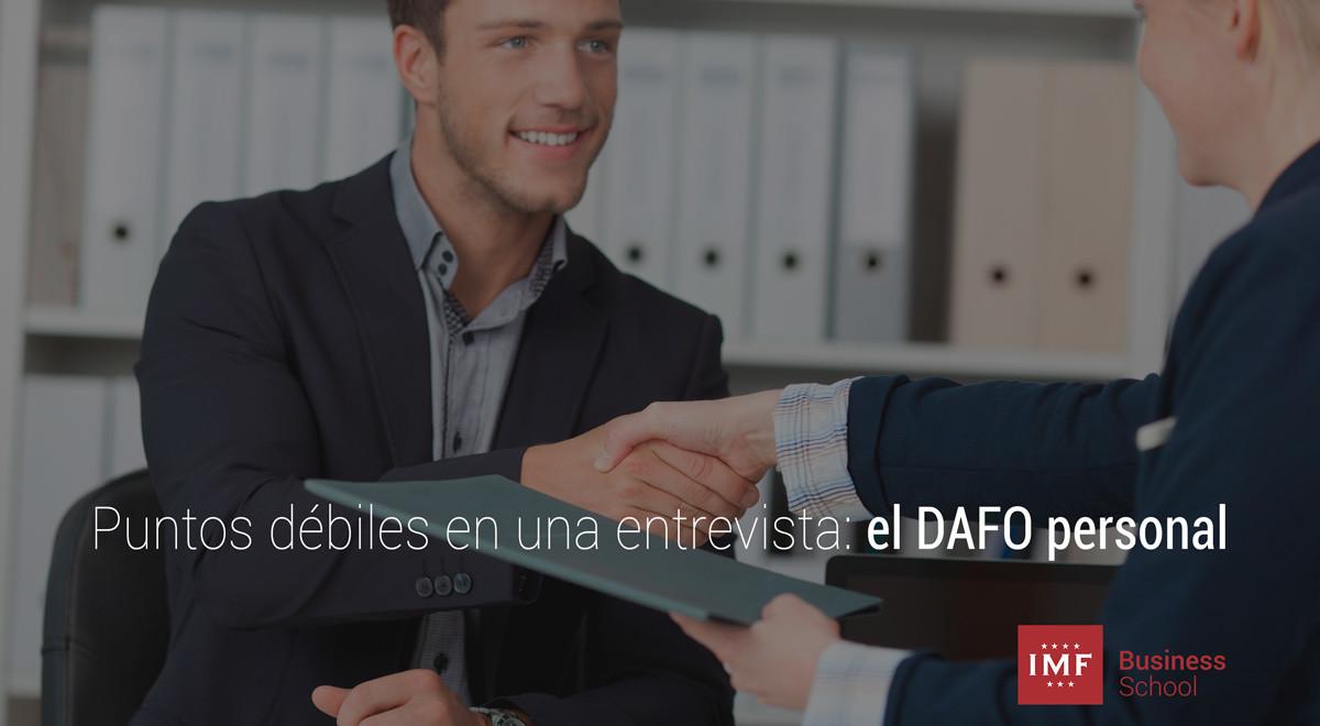dafo-personal-debilidades Puntos débiles en una entrevista: el DAFO personal