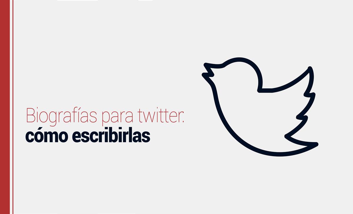 Biografías para twitter: cómo escribirlas