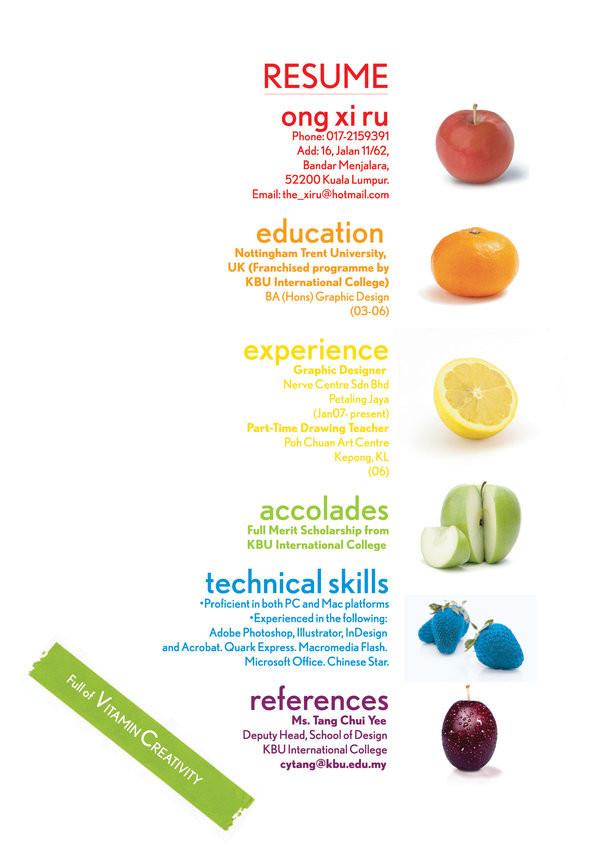 resume_by_xiruxiru Los mejores ejemplos de curriculums originales