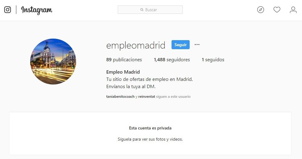 Instagram-empleo Cómo buscar trabajo en Instagram