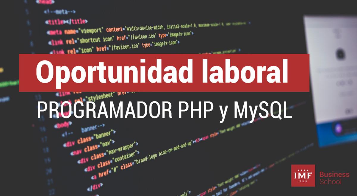 programador-PHP-MySQL Oportunidad laboral: Programador WEB PHP y MySQL