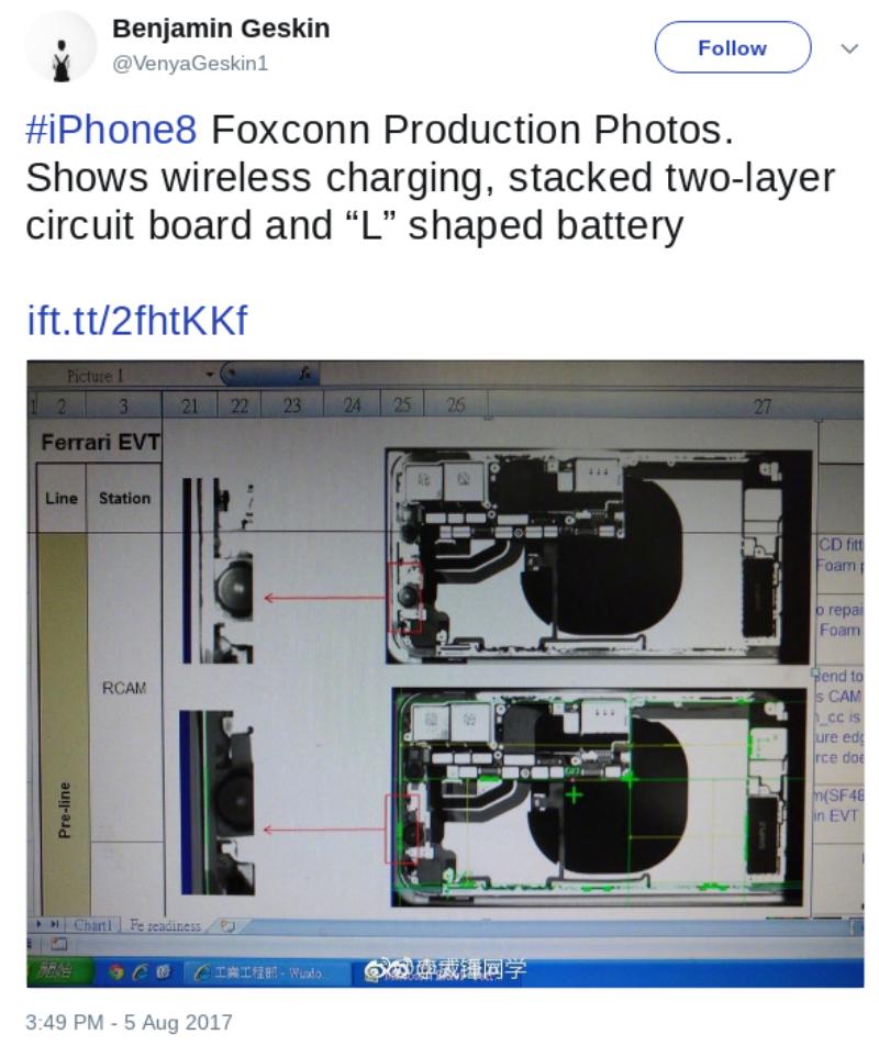Bateria Leaks de iPhone 8, ¿cómo va a ser?