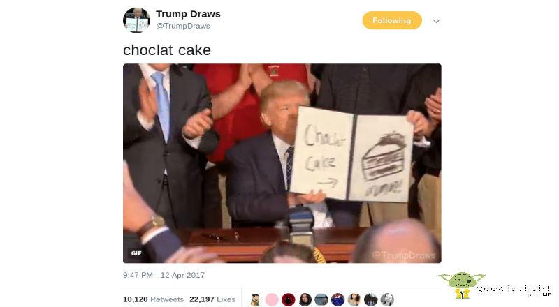 Trump-Draws Twitter en la era de Trump