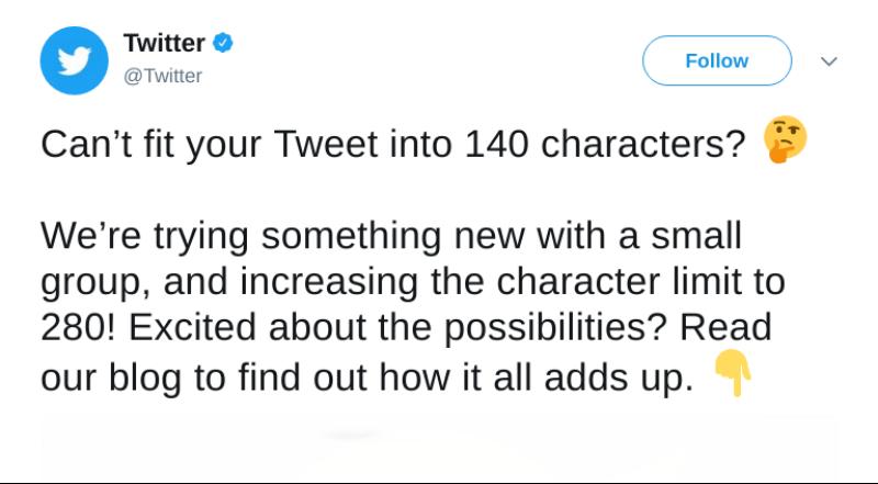 caracteres Twitter amplía a 280 los caracteres por tuit