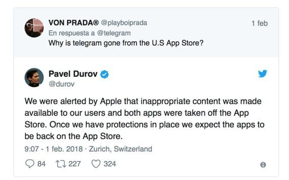 imagen2 Telegram un día de baja de la Apple Store por problemas de seguridad
