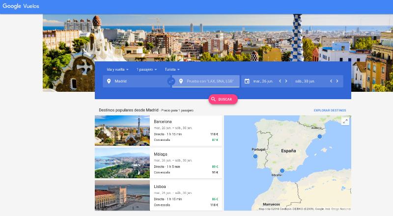 googlevuelos Google Vuelos: trucos para seguir precios y ahorrar el máximo